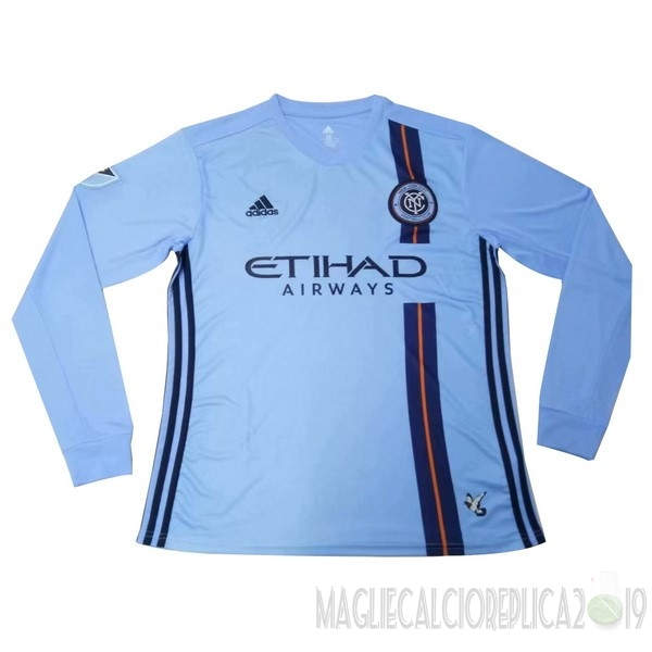 Poco Prezzo Adidas Home Manica lunga New York City 2019 2020 Blu